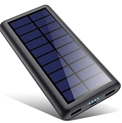 Code promo Amazon : Batterie Externe Chargeur Solaire 26800mah HETP à 20,76€