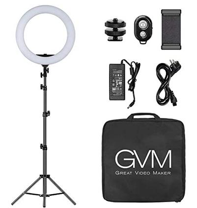 Code promo Amazon : Kit anneau LED 48cm GVM avec trépied à 72,24€