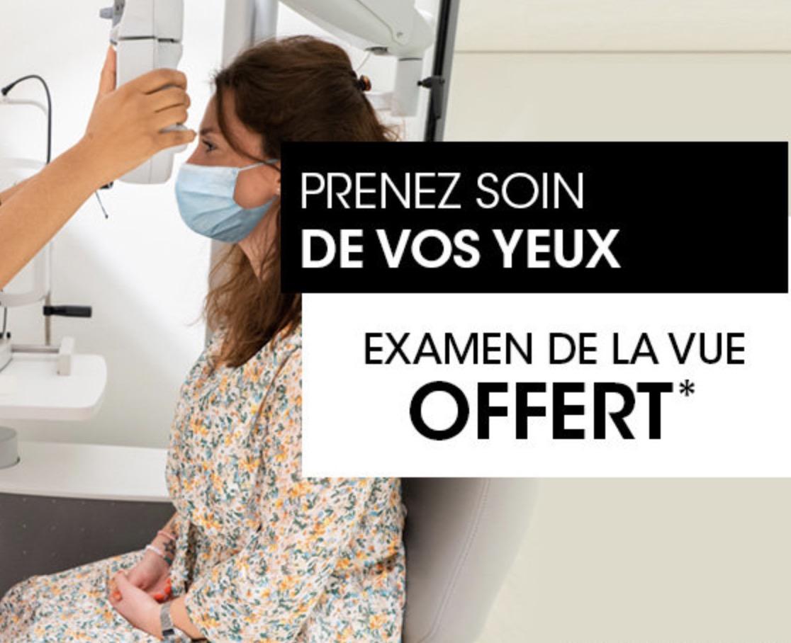 Code promo Grand Optical : Examen de la vue offert en magasin