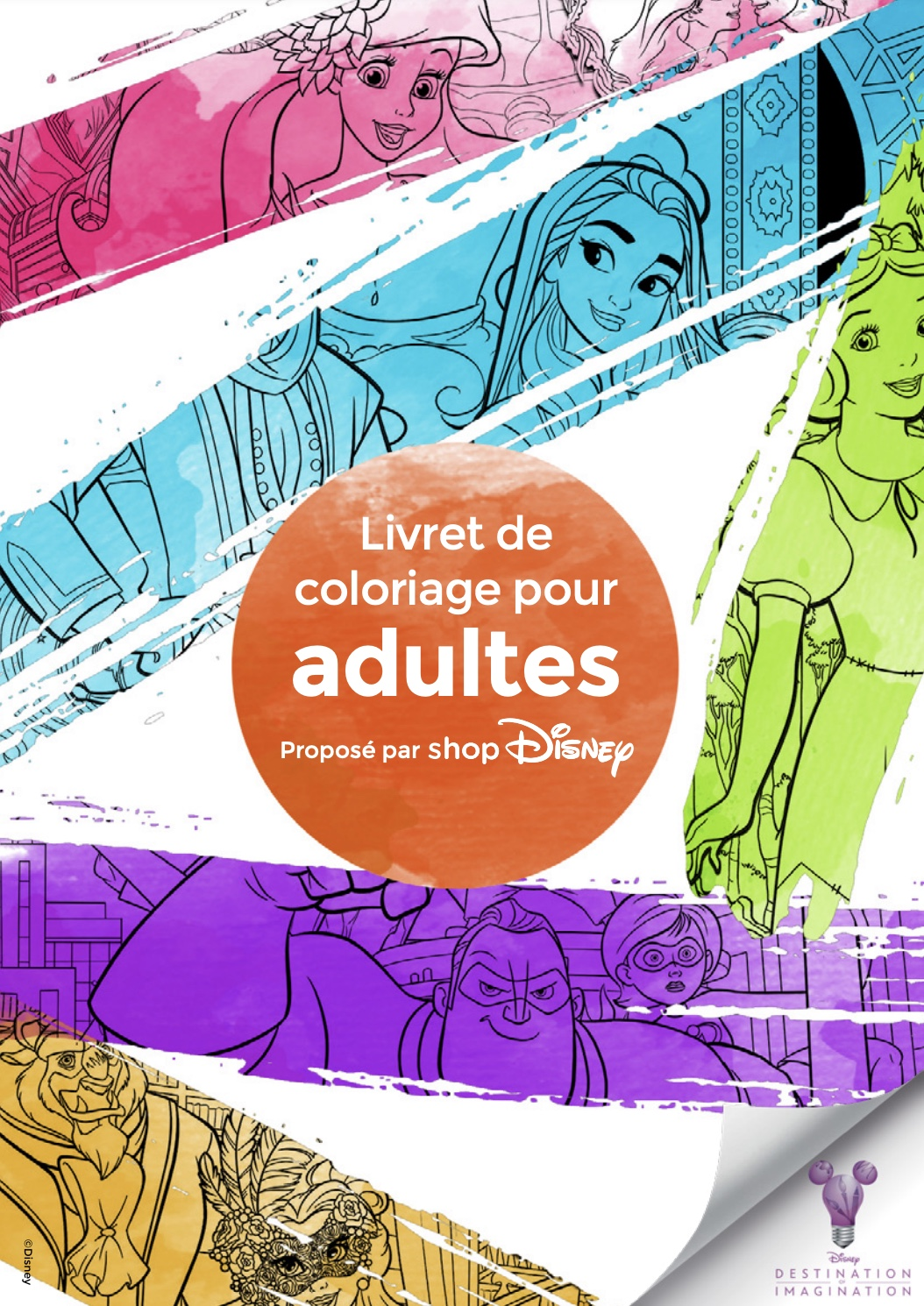 Code promo shopDisney : Livre Disney coloriage pour adulte à imprimer gratuitement