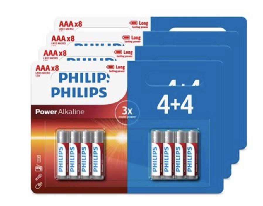 Code promo Fnac : Lot de 32 piles Philips AAA ou AA en 4 packs de 4+4 à 7,99€