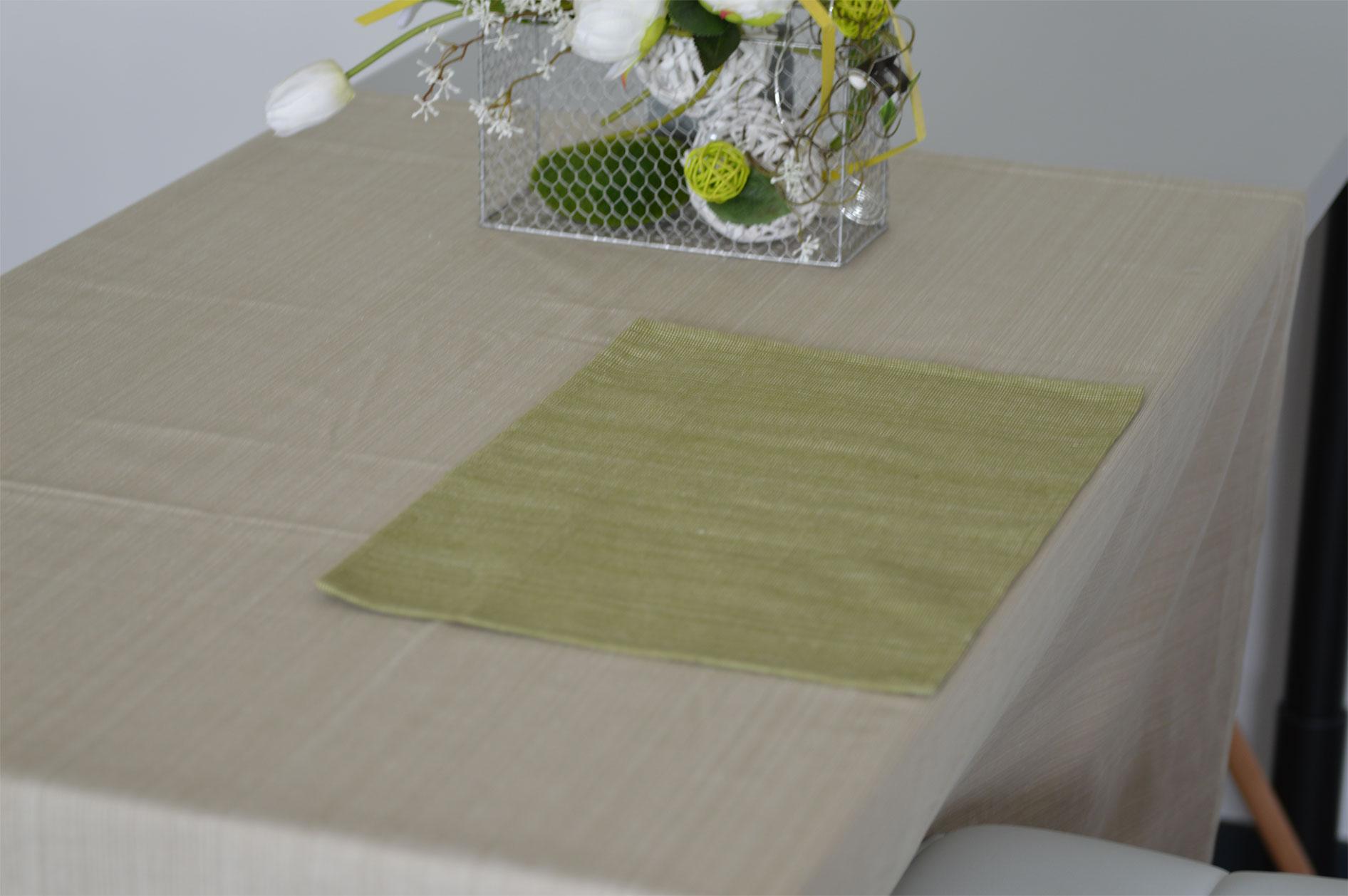 Code promo HomeMaison : Set de table en coton biologique, vert - 2,90€ au lieu de 4,90€