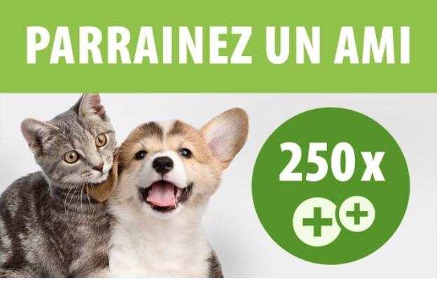 Code promo Zooplus : 250 points de fidélité zooPoints pour vous et -10% pour vos filleuls grâce au parrainage