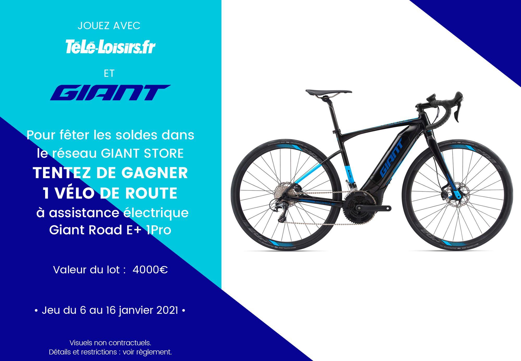 Code promo Télé Loisirs : Un vélo de route Giant à gagner
