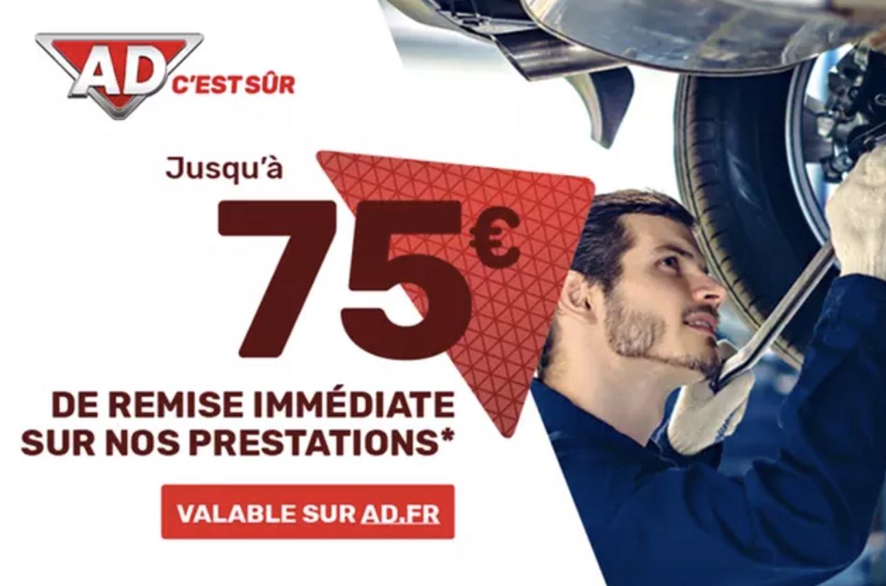 Code promo Groupon : Payez 50€ le bon d'achat de 100€ ou 75€ le bon de 150€ à faire valoir sur le site AD.fr