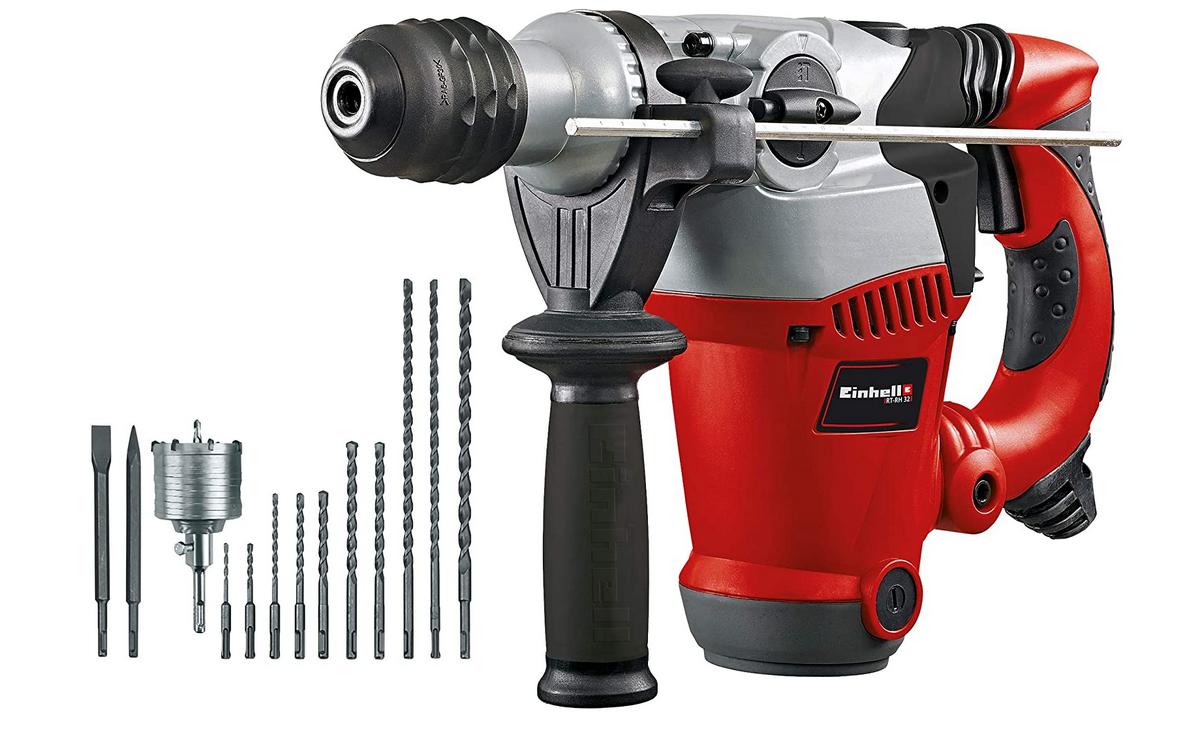 Code promo Amazon : Kit marteau perforateur Einhell RT-RH 32 avec coffret de rangement à 122,75€
