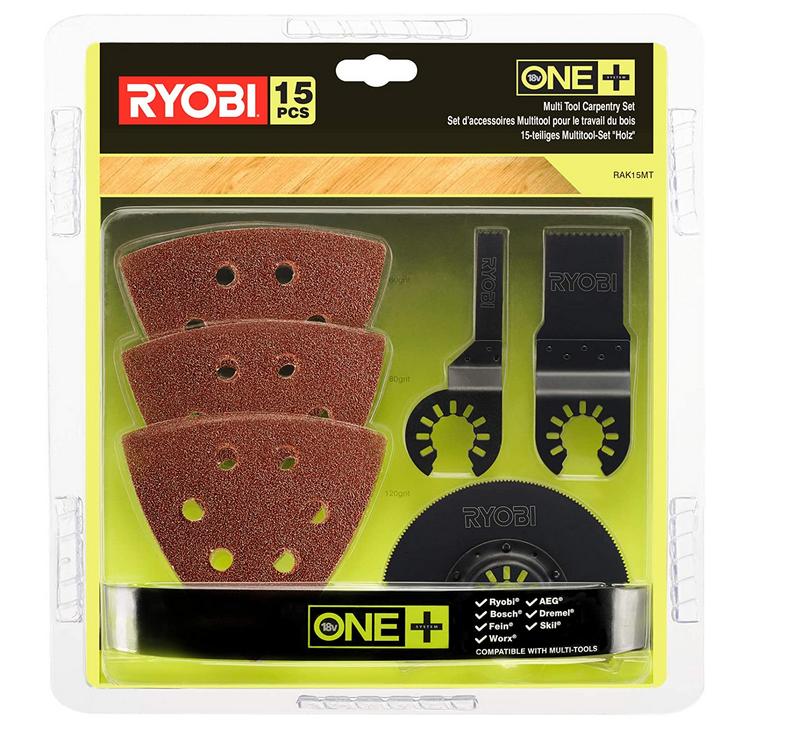 Code promo Amazon : Kit d'outils multifonctions en bois Ryobi RAK15MT à 22,49€