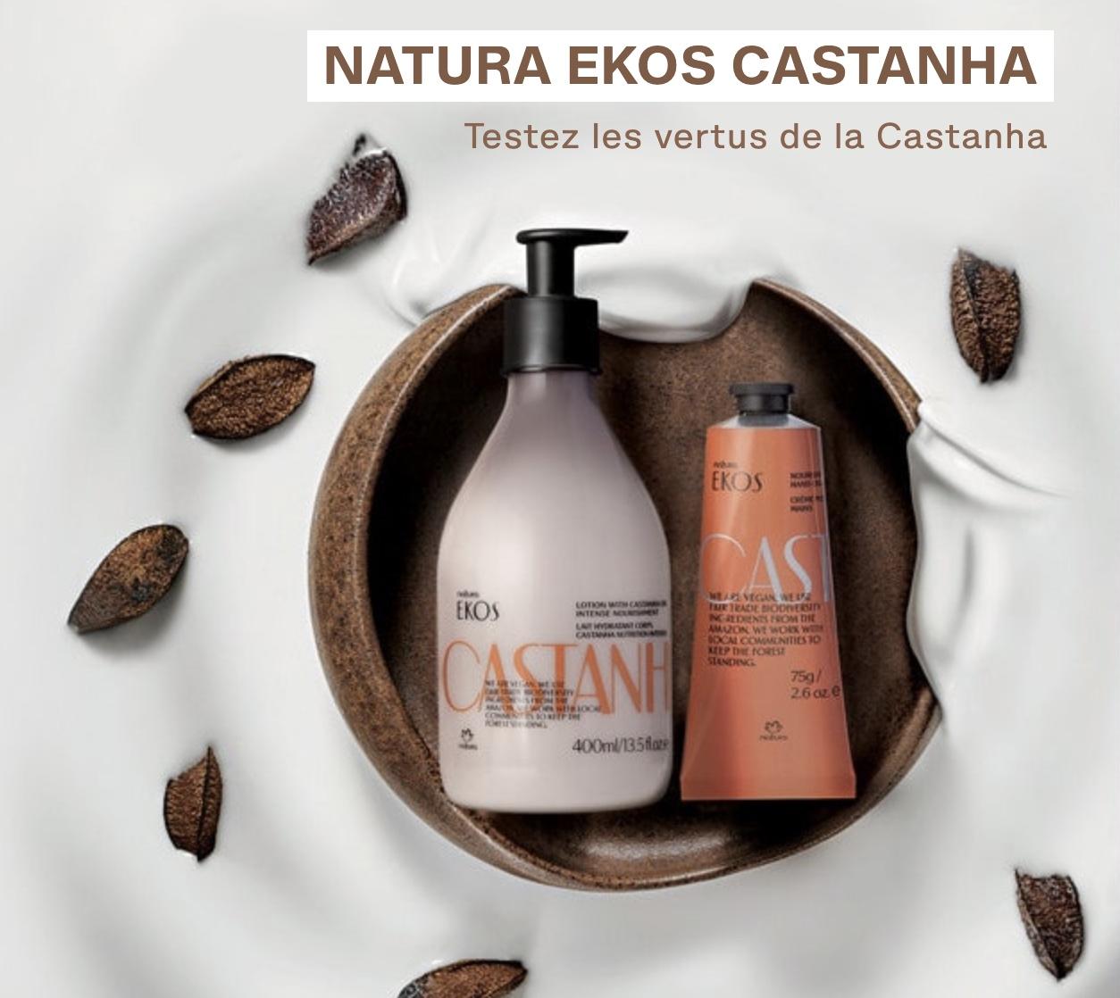 Code promo Natura Brasil : Des échantillons de crème mains et de lait corps à la Castanha à tester gratuitement