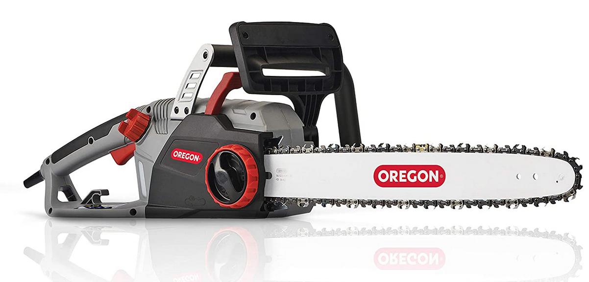 Code promo Amazon : Tronçonneuse Électrique Oregon CS1500 avec Système d'Affûtage Intégré PowerSharp à 108,25€