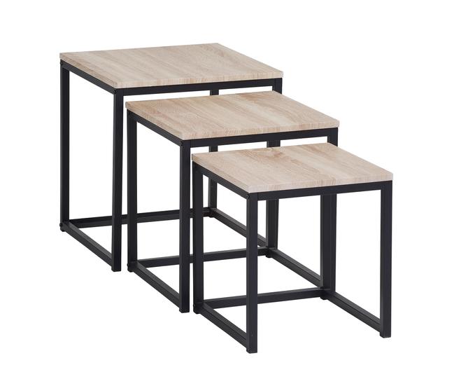 Code promo BUT : Table basse gigogne NEVA industrielle Chêne/noir en solde à 39,99€