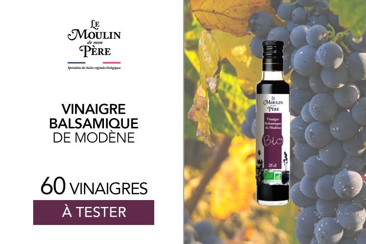 """Code promo Mon Vanity Idéal : 60 vinaigres balsamiques """"Le Moulin de Mon Père"""" à gagner"""