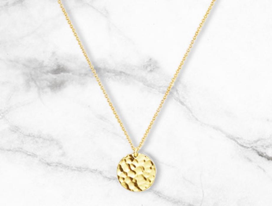 Code promo Nuxe : Un collier médaillon martelé doré (chaîne L450 x 1mm) offert dès 50€ d'achat