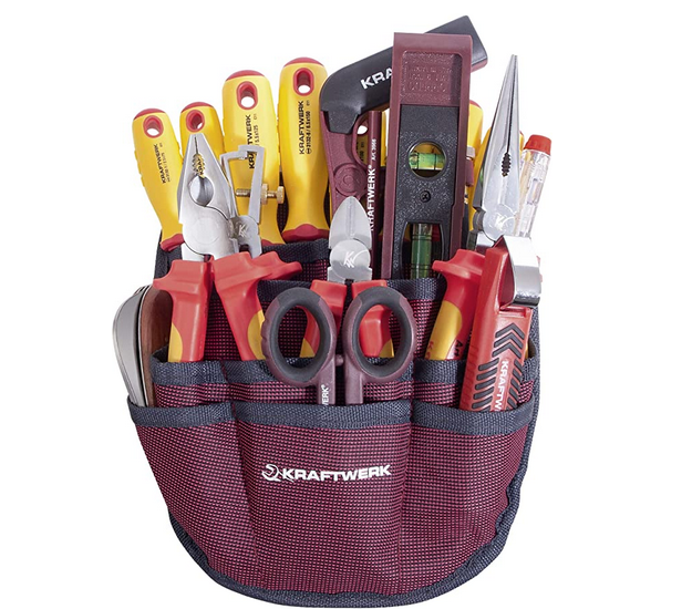Code promo Amazon : Trousse d'outils pour électricien KRAFTWERK - 20 Pièces à 135,24€