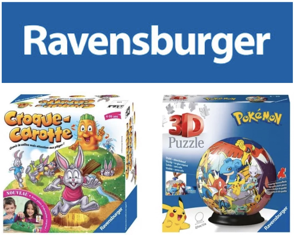 Code promo Cdiscount : 1 jeu ou puzzle Ravensbuger acheté parmi une sélection = le 2e 100% remboursé (le moins cher)