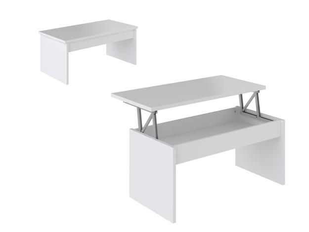 Code promo BUT : Table basse plateau relevable Yana Blanc à 49,50€