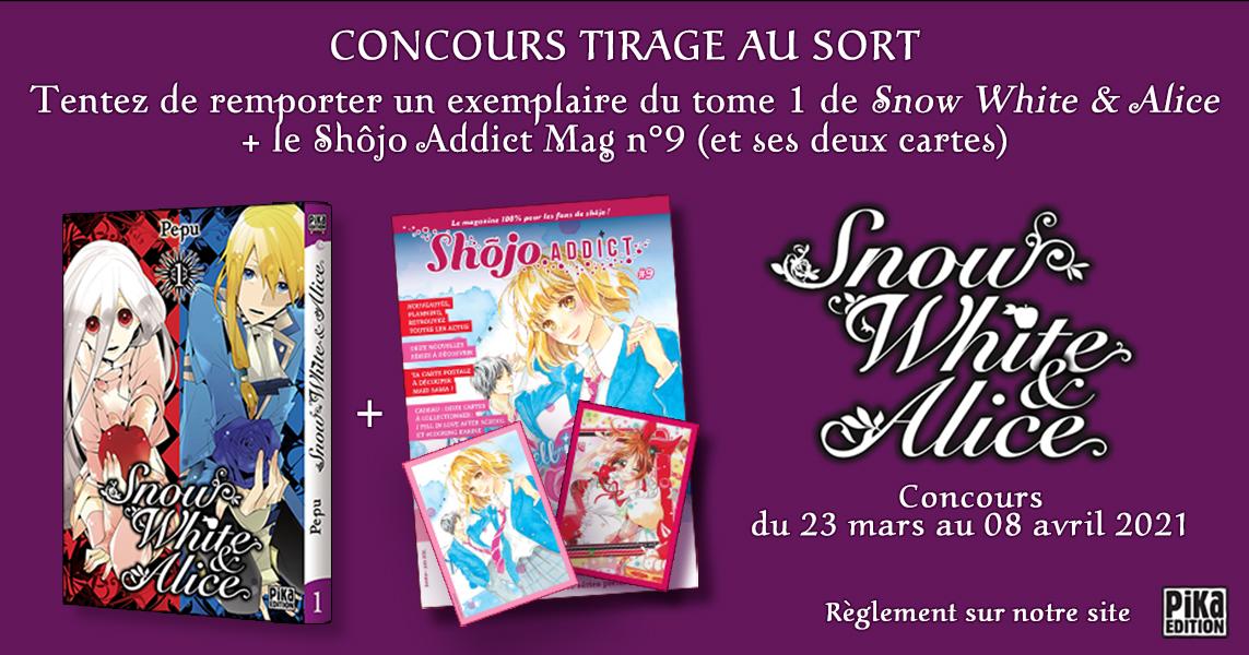 "Code promo Pika Edition : 5 comics ""Snow White & Alice"" à gagner"