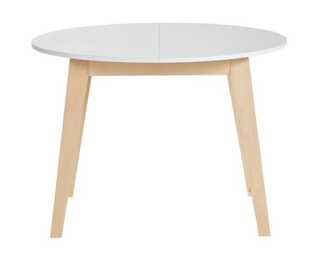 Code promo BUT : Table ronde + allonge AUDRA Blanc/hêtre à 192,55€