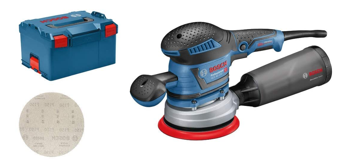 Code promo Amazon : Ponceuse excentrique Bosch GEX 40-150 à 279,54€