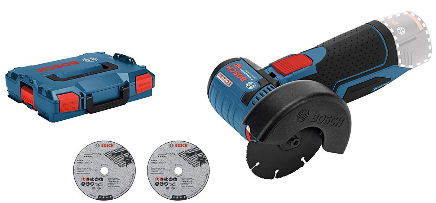 Code promo Amazon : Meuleuse Angulaire sans-fil Bosch GWS 12V-76 à 111,45€