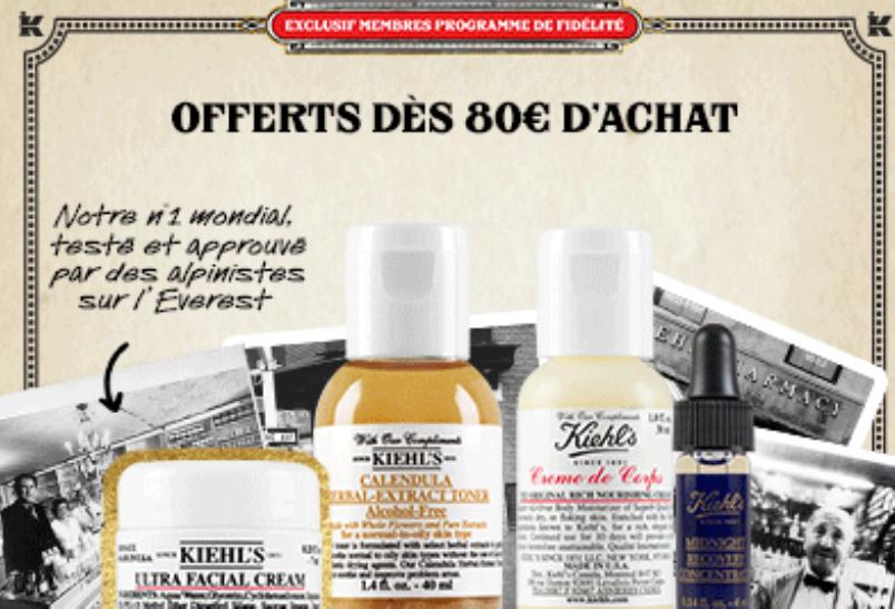 Code promo Kiehl's : Une routine composée de 4 soins en taille week-end offerte dès 80€ d'achat