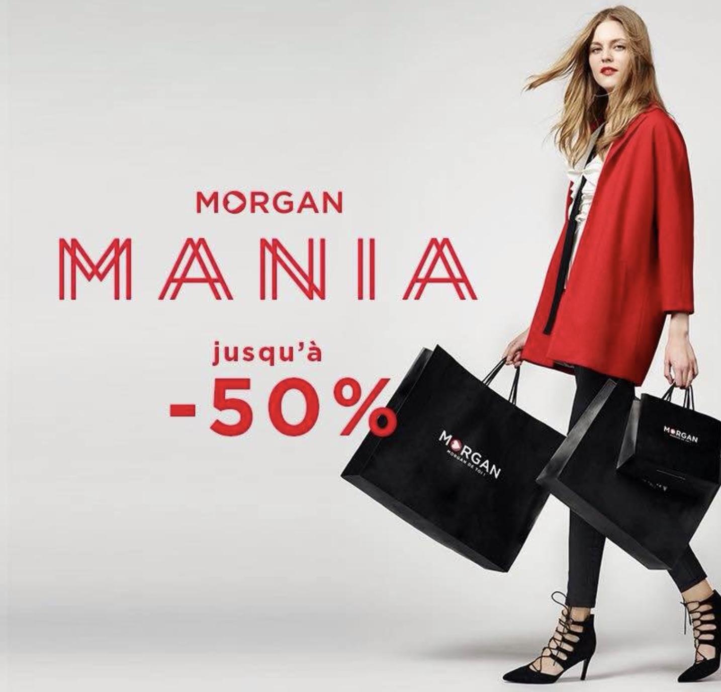 Code promo Morgan : [Morgan Mania] Jusqu'à -50% de réduction sur une sélection et -10% supplémentaires dès 2 articles