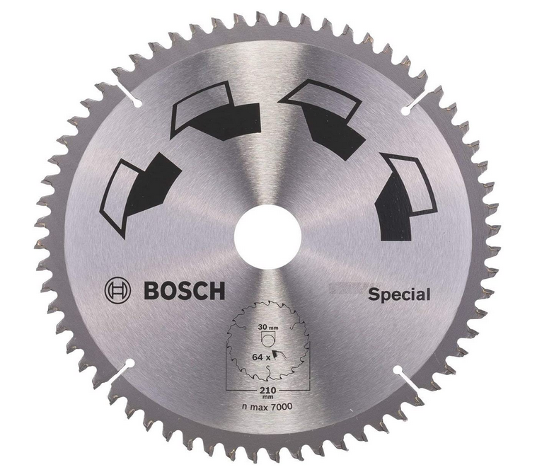 Code promo Amazon : Lame de scie circulaire Bosch Spécial 210 mm à 34,45€