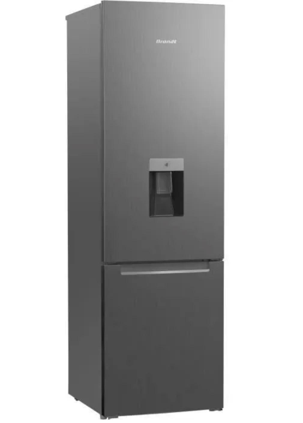 Code promo Cdiscount : Réfrigérateur combiné 260L (195 + 65) BRANDT BFC7527XD  avec distributeur d'eau à 329,99€