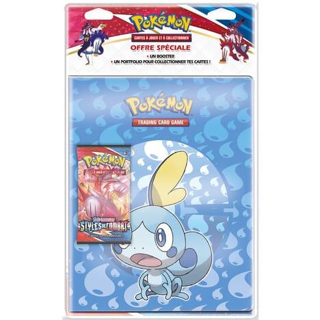 Code promo Auchan : Pack Portfolio cahier range cartes + Booster Pokemon Epée et bouclier Styles de combat à 13,49€