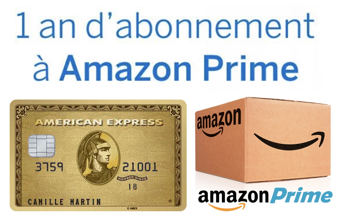 Code promo Amazon : 1 an d'abonnement à Amazon Prime + 80€ offerts pour toute souscription à une American Express Gold
