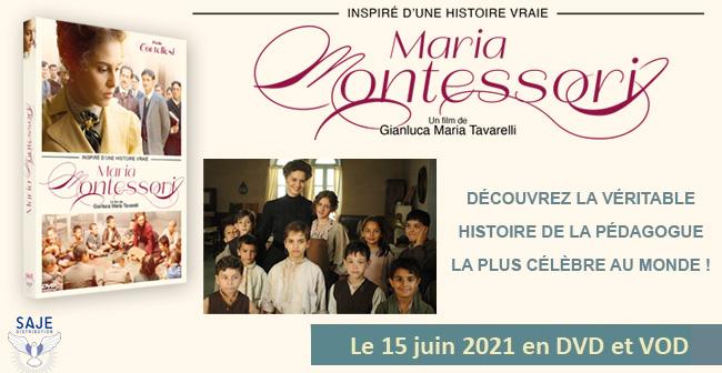 """Code promo Ciné Média : 1 DVD du film """"Maria Montessori"""" à gagner"""