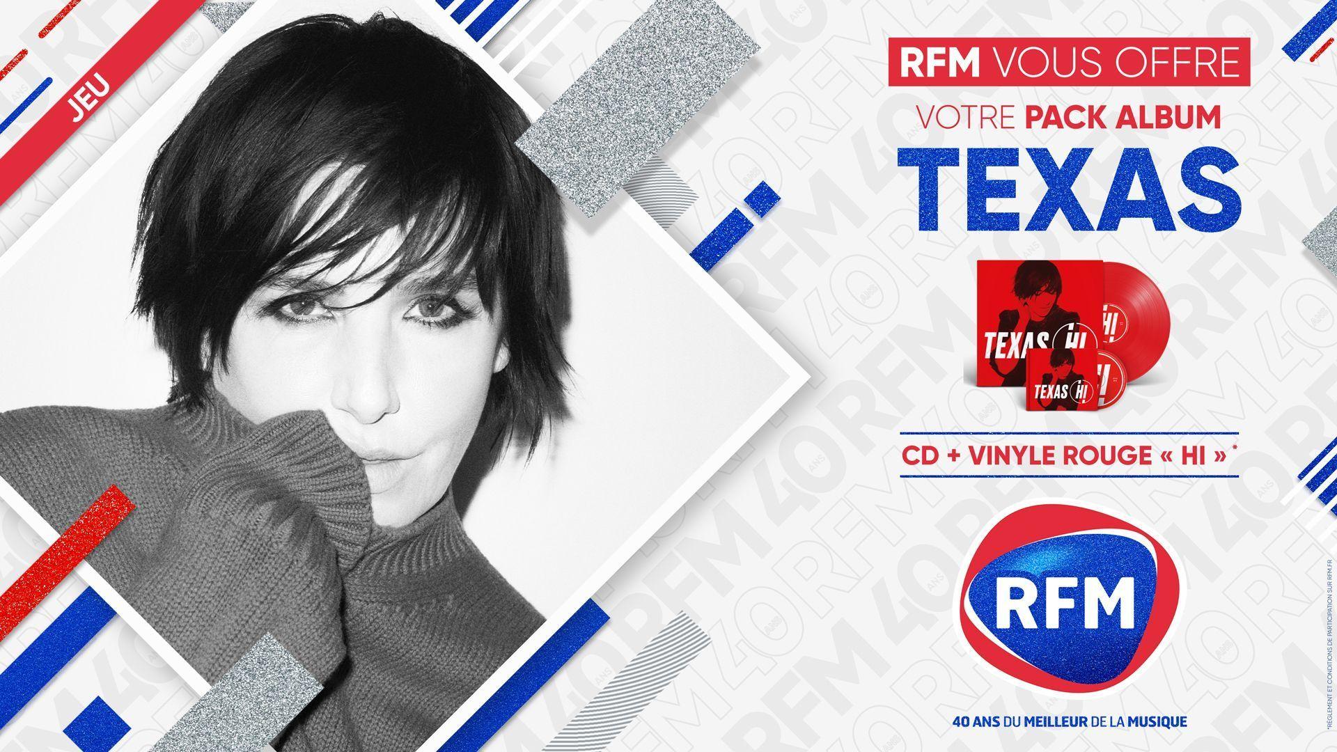 "Code promo RFM : Des packs CD + Vinyle ""Hi"" de Texas à gagner"
