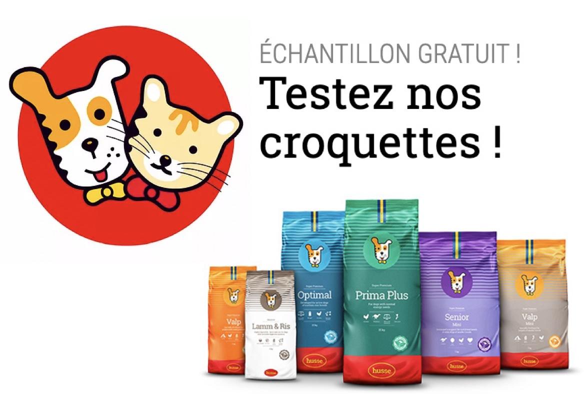 Code promo Husse : Obtenez un échantillon gratuit de croquettes Husse pour chat ou chien