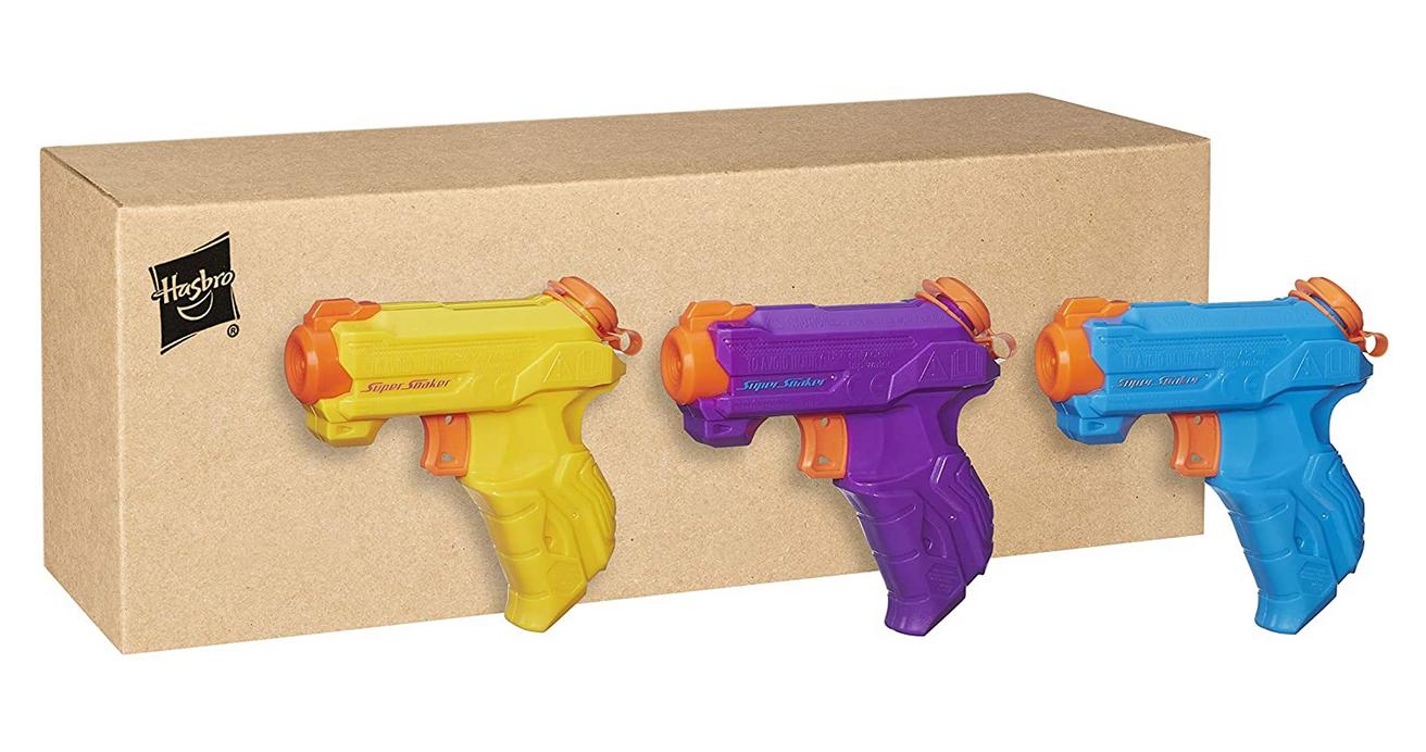 Code promo Amazon : Pack de 3 Pistolets à eau Nerf Super Soaker Zipfire à 7,99€