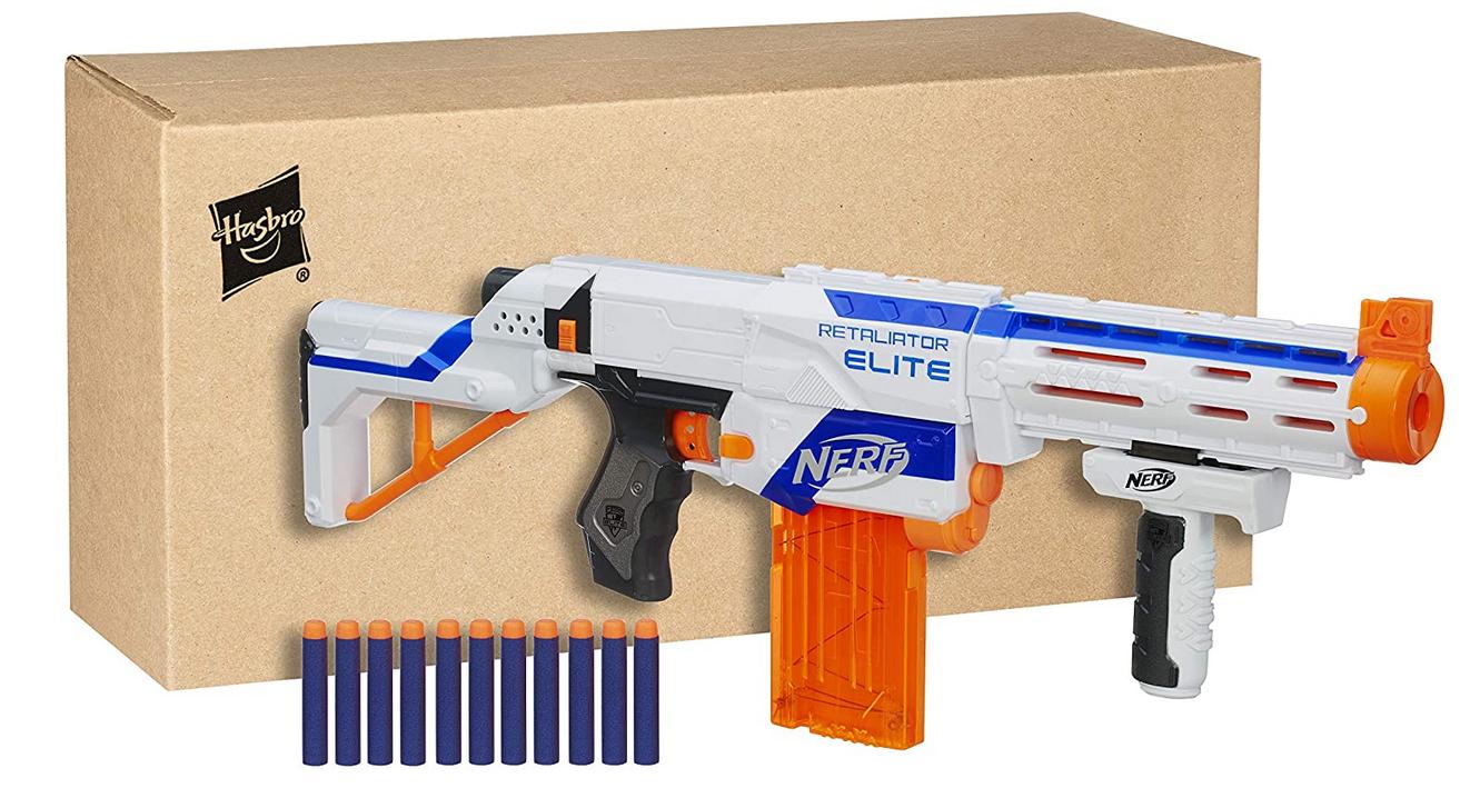 Code promo Amazon : Jouet Nerf Elite Retaliator et Flechettes Elite Officielles à 18,99€