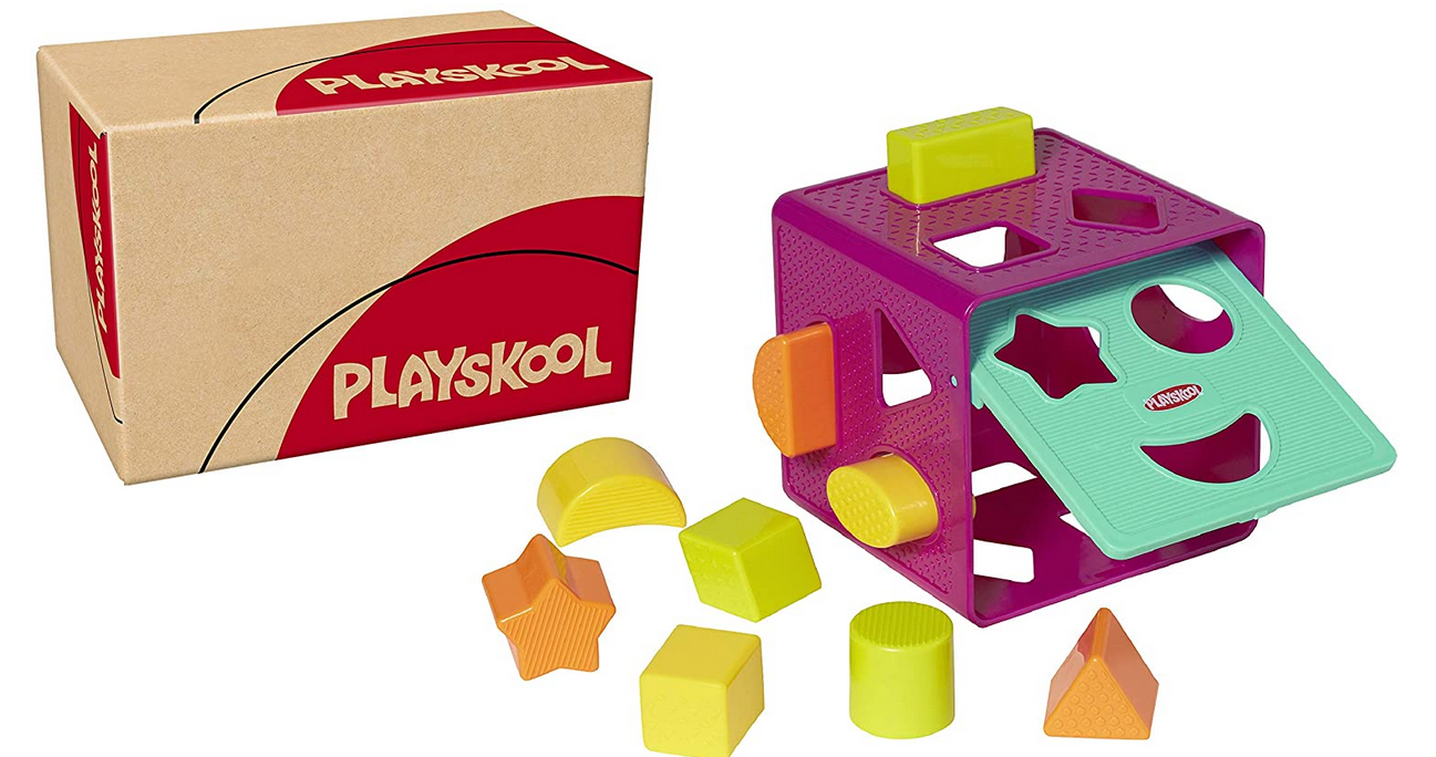 Code promo Amazon : Jouet bébé Playskool Cube de tri de Formes à 3,99€