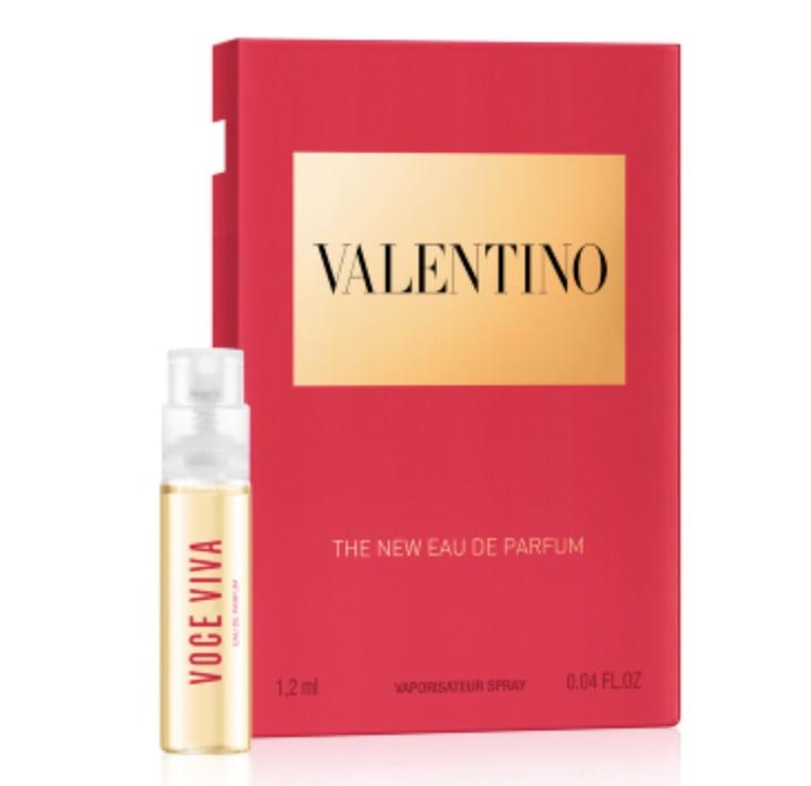 Code promo Valentino Beauty : 1 échantillon gratuit de l'eau de parfum VOCE VIVA