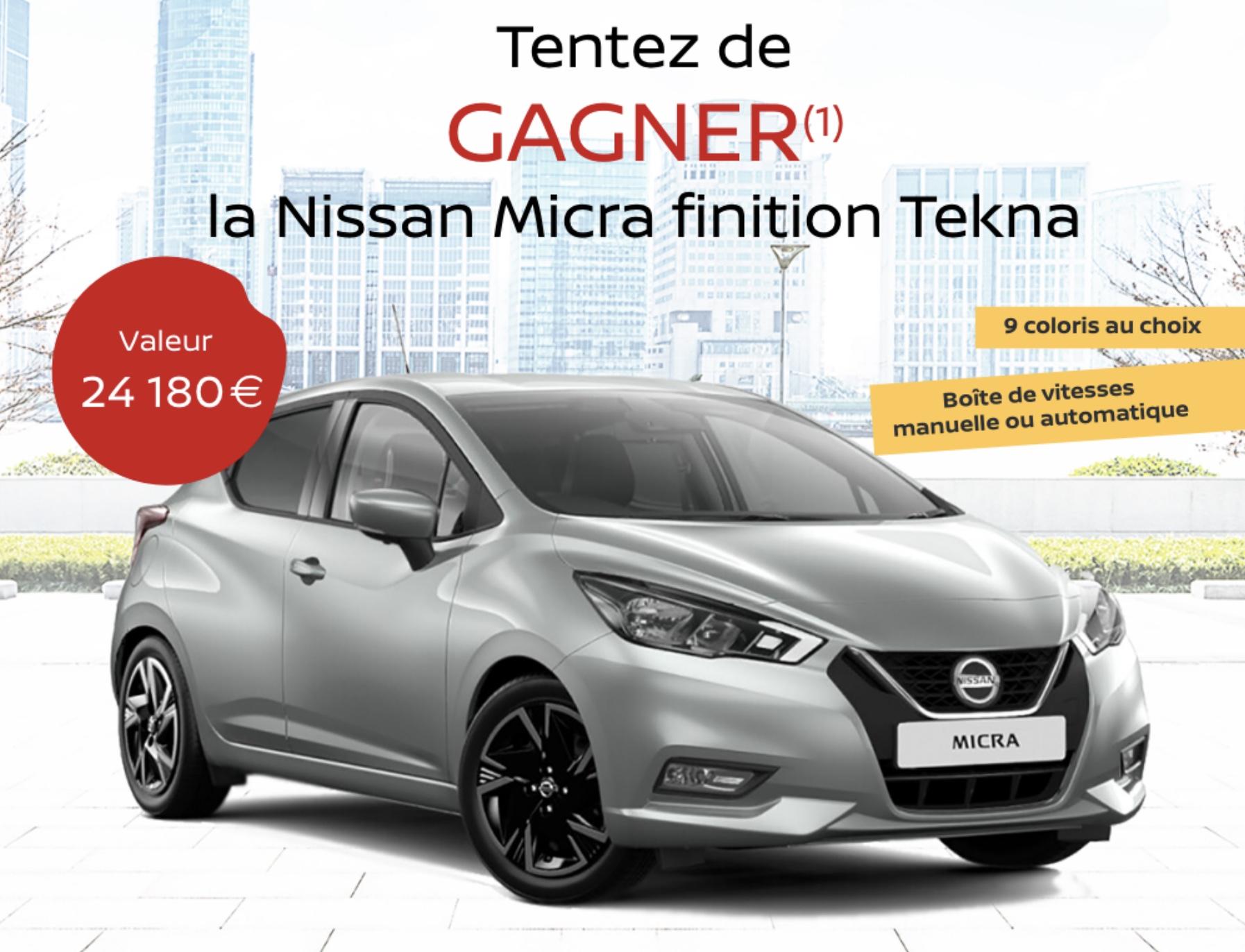 Code promo Blancheporte : 1 voiture Nissan Micra à gagner
