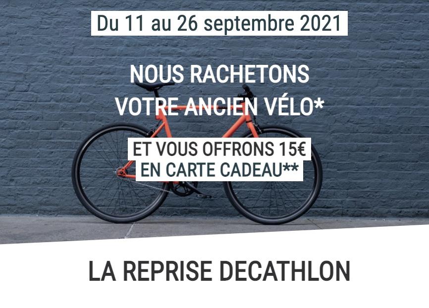 Code promo Decathlon : Revendez votre vélo sur Decathlon Occasion et recevez en plus 15€ offerts en carte cadeau