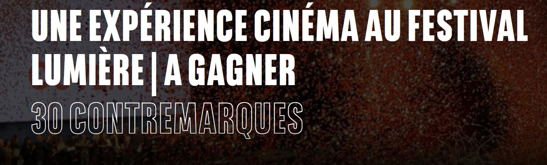 Code promo BNP Paribas : 15 lots de 2 invitations pour le Festival Lumière à Lyon à gagner