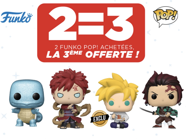 Code promo Micromania : 2 figurines Funko Pop achetées = la 3ème gratuite
