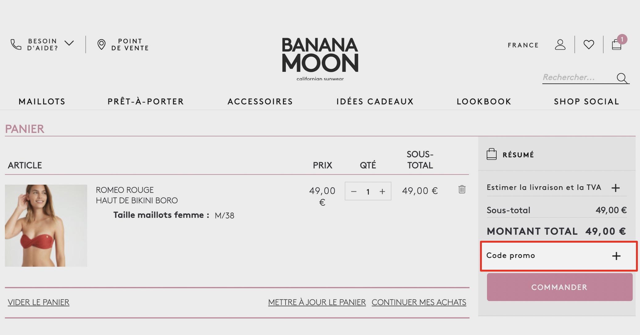 comment utiliser un code promo banana moon
